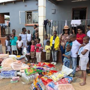 Dambisa Spent her Christmas Eve Giving to the Needy
