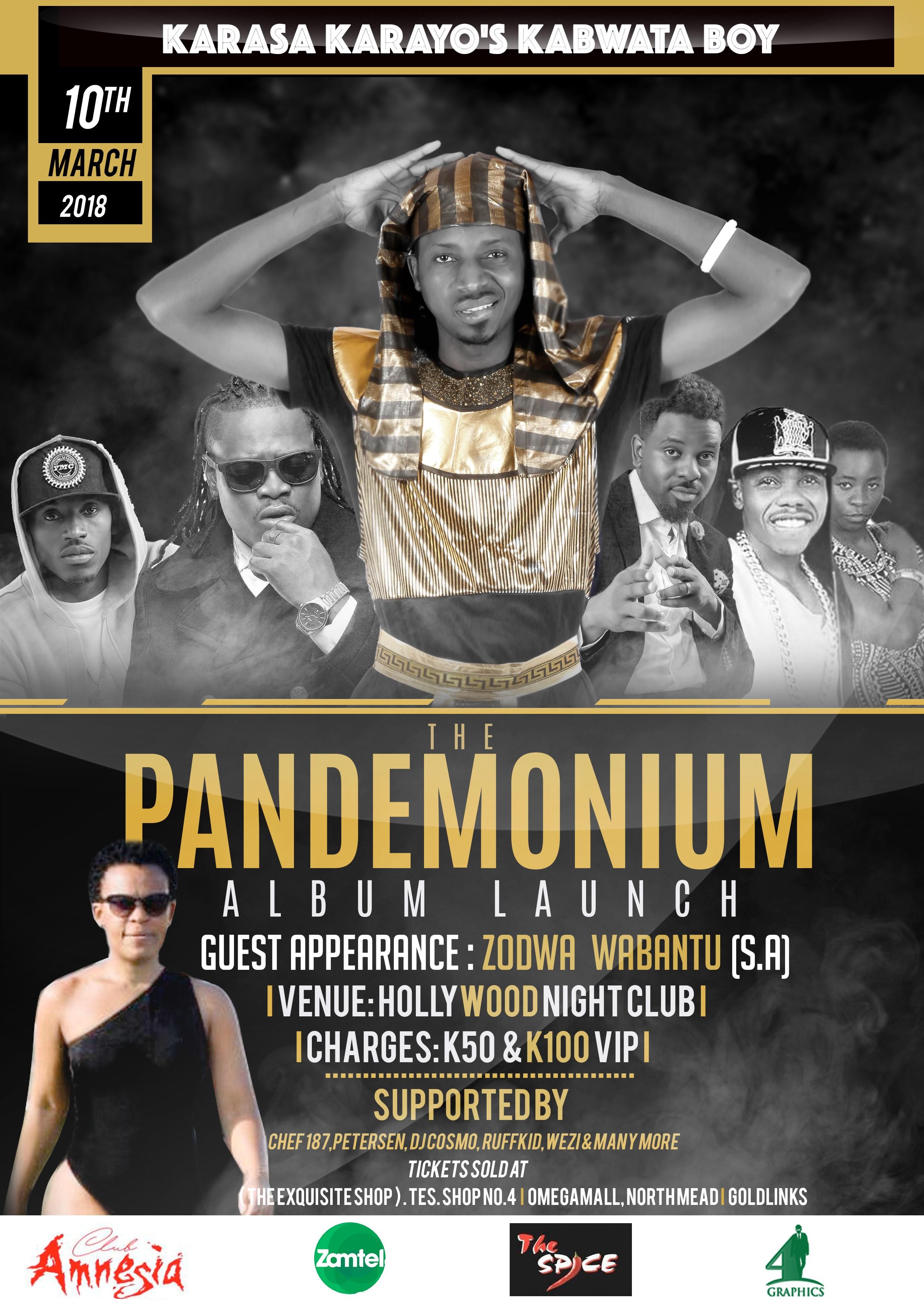 KARASA Presents the PANDEMONIUM Album Launch