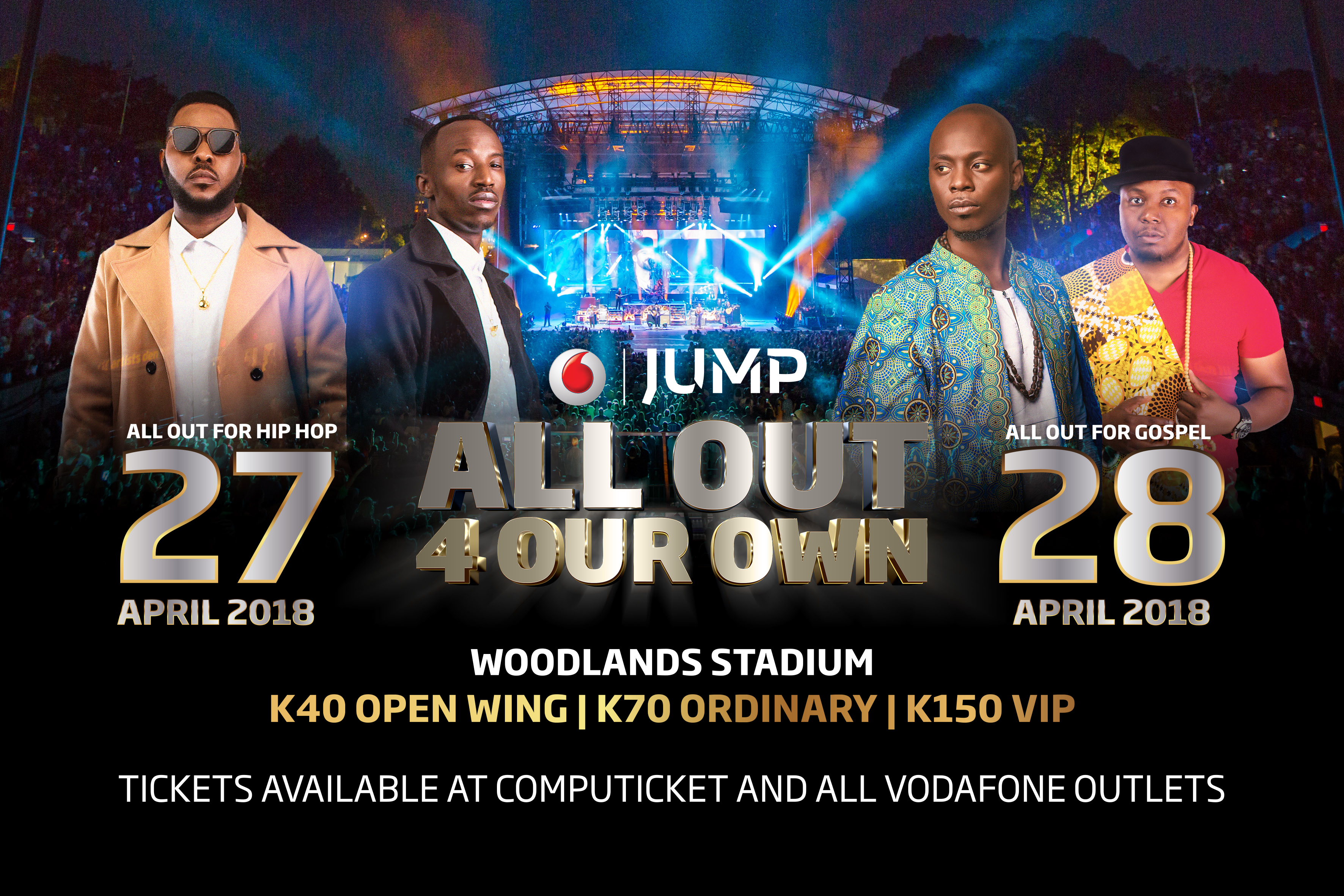 #AllOut4OurOwn Concert to Take Over Woodlands Stadium, 27th & 28th April!