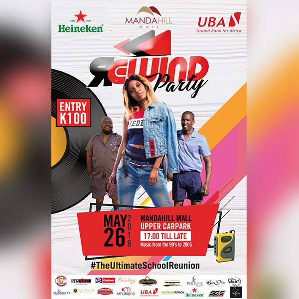 Rewind Party to Celebrate Daddy Zemus, Lilly T, B.I.G.G.I.E, MJ & Zam Ragga at Manda Hill (Upper Car Park)