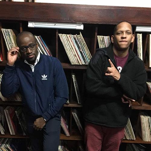 Chanda Mbao and South African Rapper, Da L.E.S Meet Up
