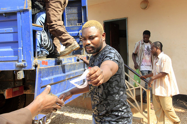 Photos: Protesters storm Police command in Abuja over