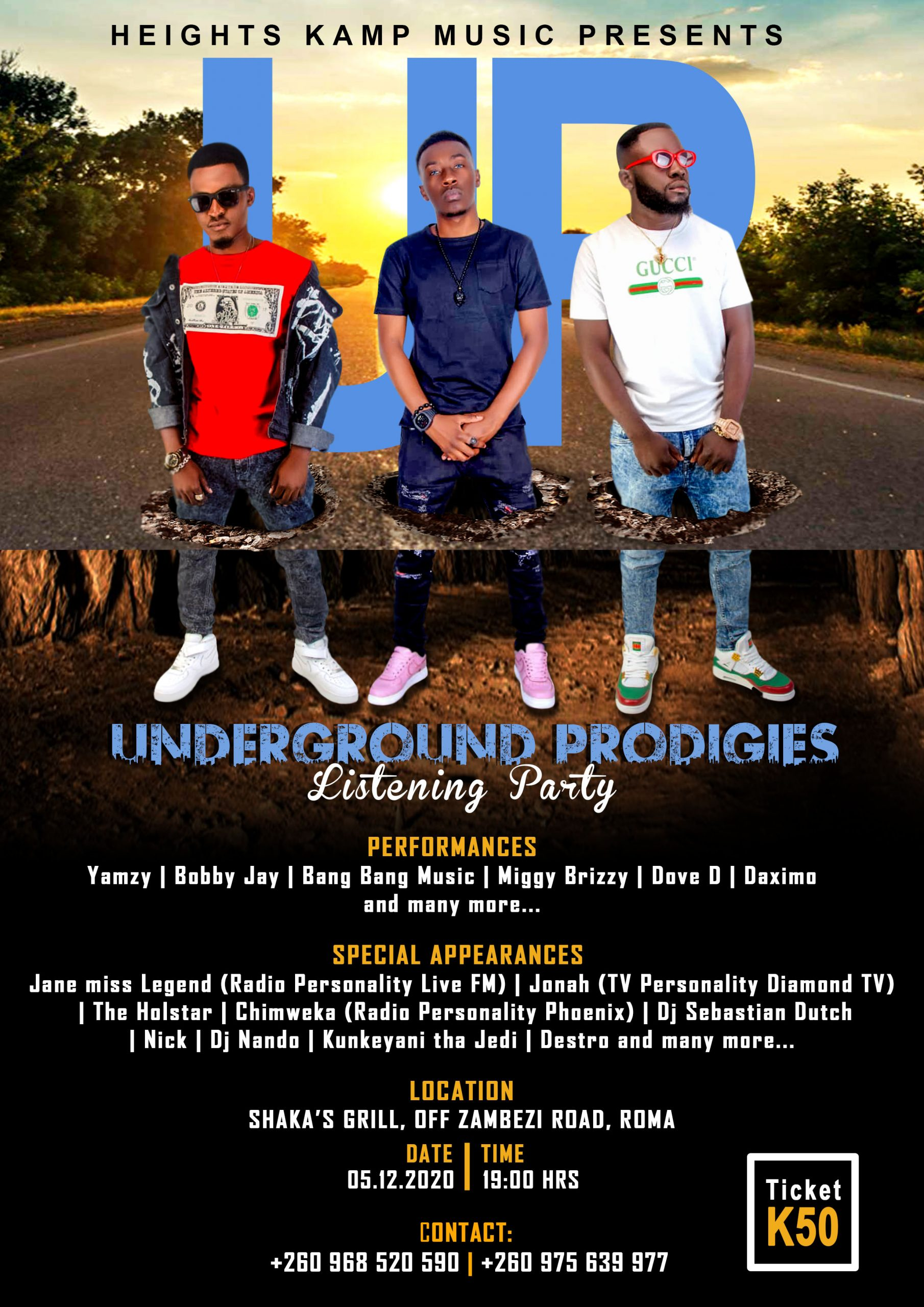 Don't Miss! Heights Kamp Music's Listening Party for their Album, 'Underground Prodigies [Extended Play]'